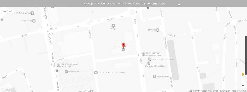 מפת מיקום על גבי התשתית של גוגל